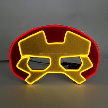 Neue Marke Cartoon Film Party EL draht Blink Iron Man <span class=keywords><strong>Maske</strong></span> Urlaub Beleuchtung Neon Led Super Hero <span class=keywords><strong>Maske</strong></span> für Halloween, cosplay Partei
