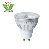 Cold Forging Aluminum Dimmable 220V COB 2700K Led Spotlight GU10 6w