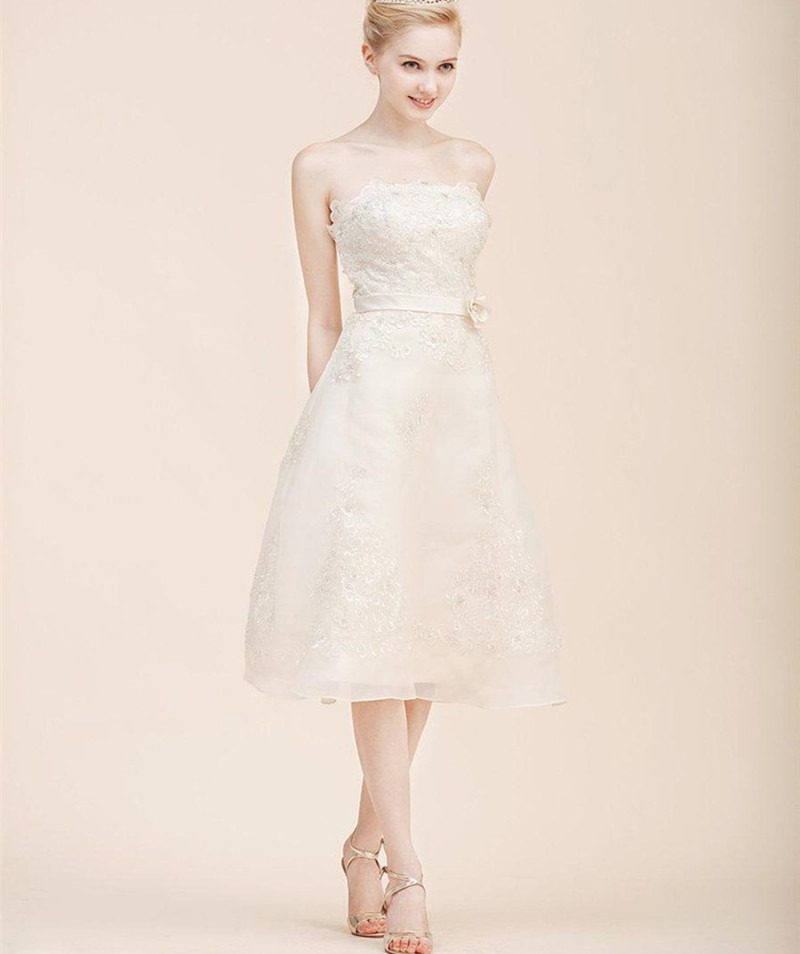 Aliexpress.com : Buy Simple Short Bridal Dresses Strapless