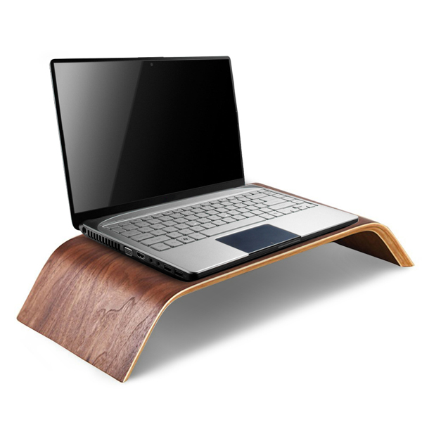 PC Notebook Universal Monitor Stand Solid Wood Riser Stand for iMac