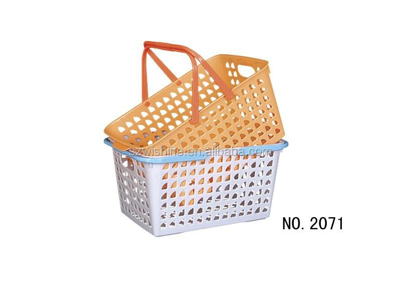 high quality cheap price small plastic hand baskets/plastic gift baskets/plastic produce baskets