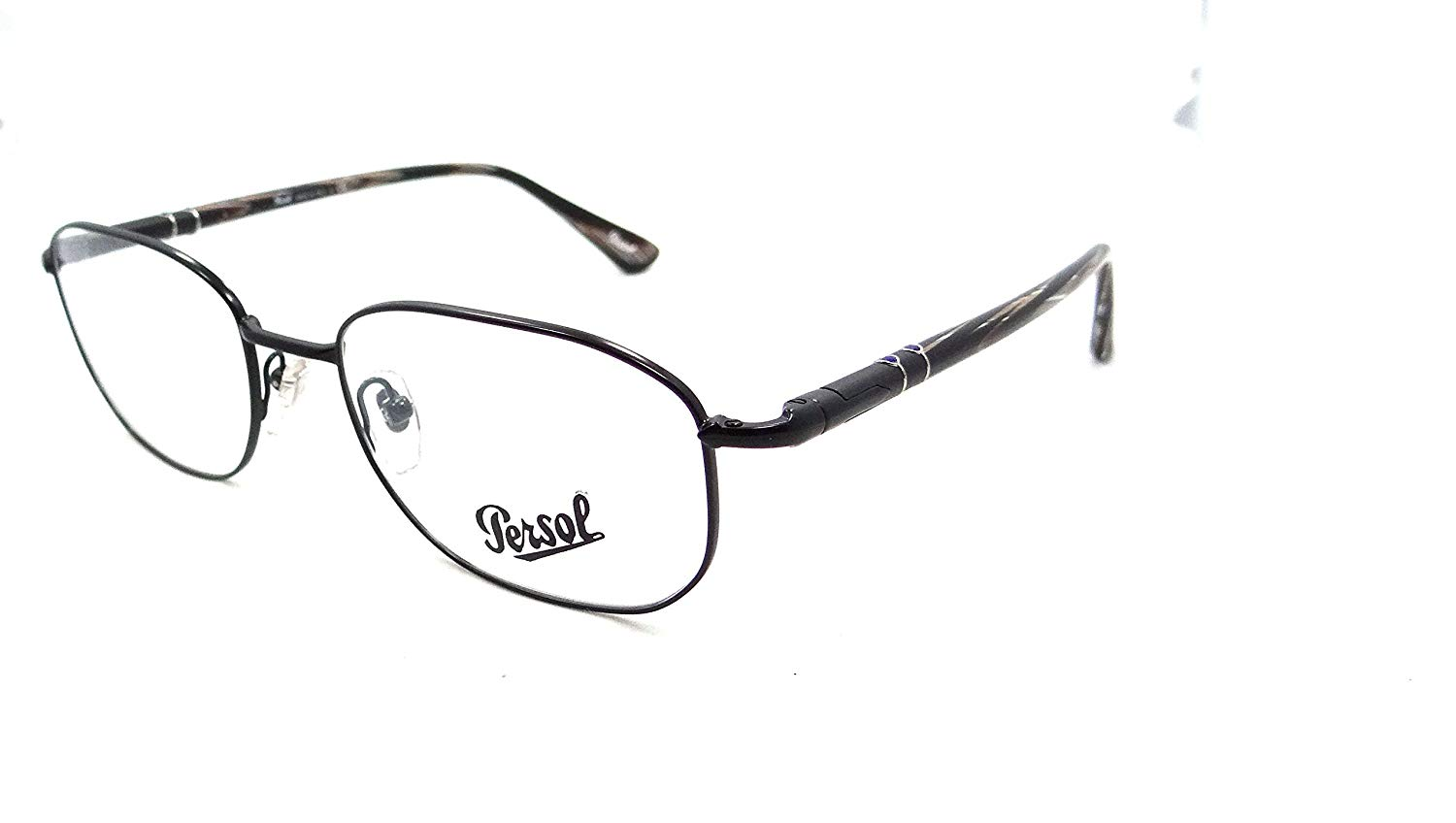 0bdf53e5d1caf Get Quotations · Persol Rx Eyeglasses Frames 2432 V 1055 53x18 Black with  Horn Made in Italy