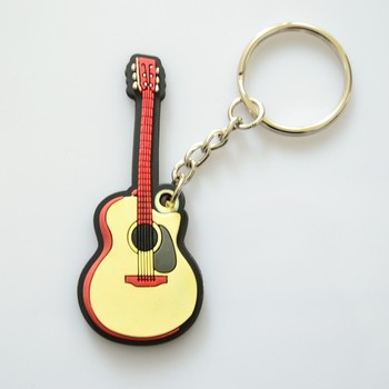 Silicone Guitar Keychains Of Music Instruments Keychains Buy