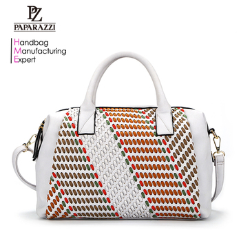 7457- Fabricante del bolso Manufacturer OEM latest style Large Capacity Pu Leather shoulder women classical hand bag