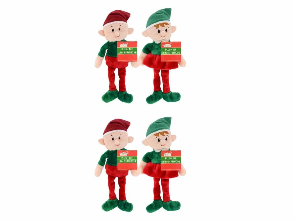4 pack christmas house plush elves 9 inch