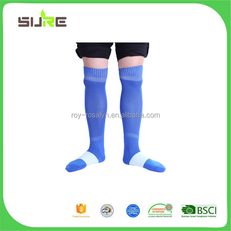 High end fancy attractive style sport knee high socks with reasonable price