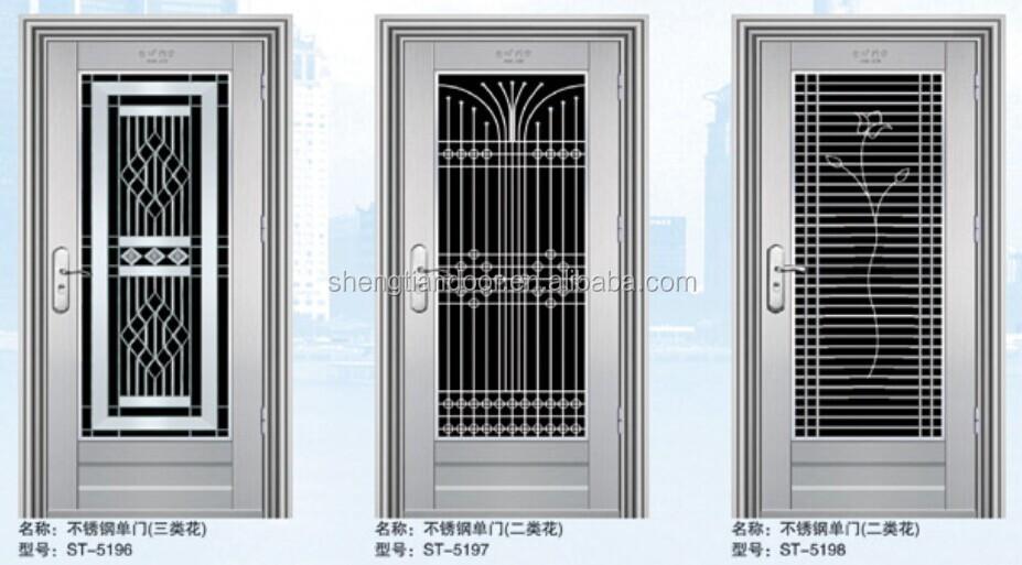 Baja precio de seguridad puertas de acero inoxidable para - Precio puerta seguridad ...