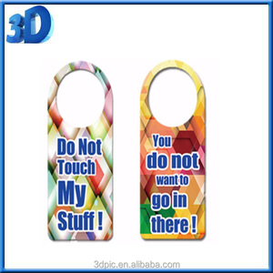factory custom plastic 3d lenticular door hanger for hotel