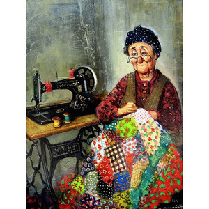 Grandma's sewing machine round or square drill diamond embroidery kits home decoration gift DIY full diamond painting