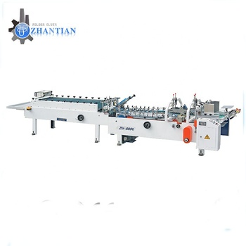 Zh-800C automatic pasting corrugated carton small box folder gluer machine