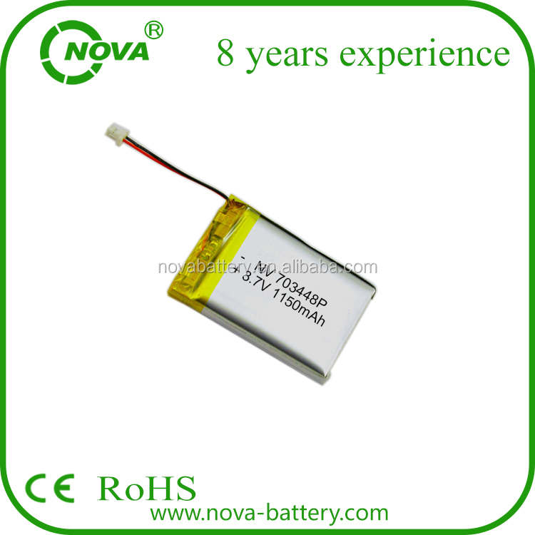 3.7v 1150mah lithium ion polymer battery 703448 for tablet PC