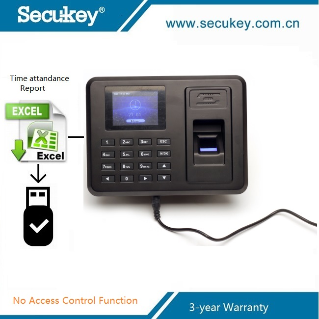 Secukey USB Downaload Attendance Report linux fingerprint time and attendance