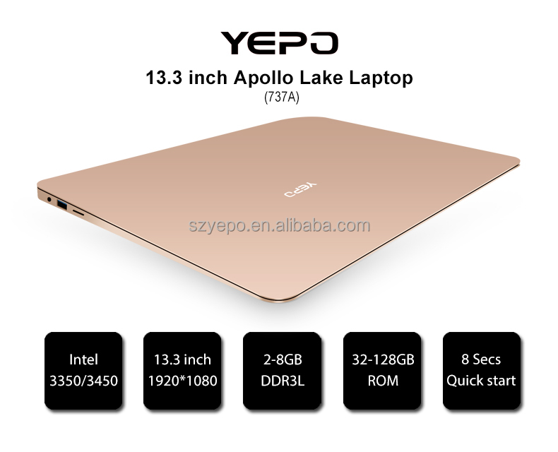 13.3 inch Apollo lake Laptop Metal case 6G 128GB фото