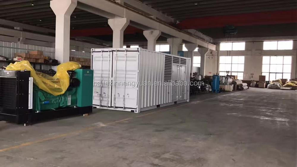 10 kva to 1000kva Container Type Generator Set for biogas plant