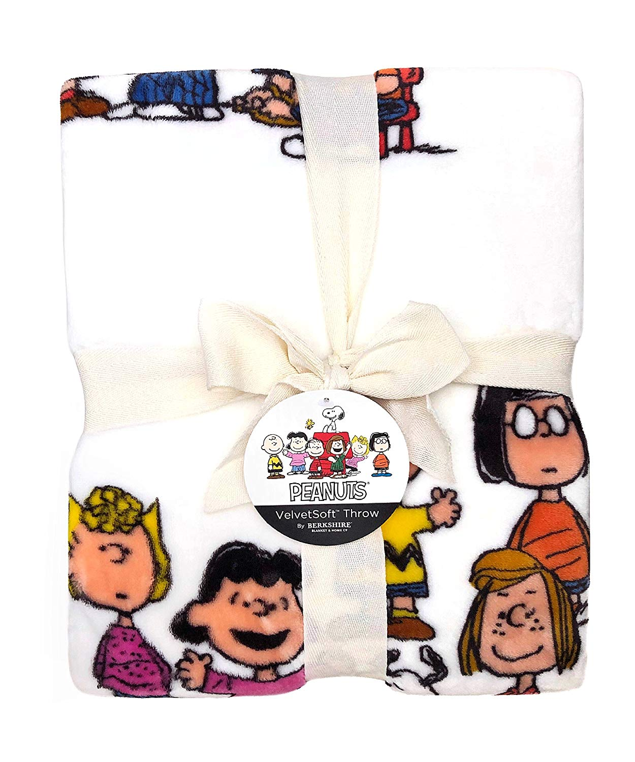 "Berkshire Blanket Peanuts - Snoopy and the Gang Velvety Soft Throw Blanket 55"" x 70"" 