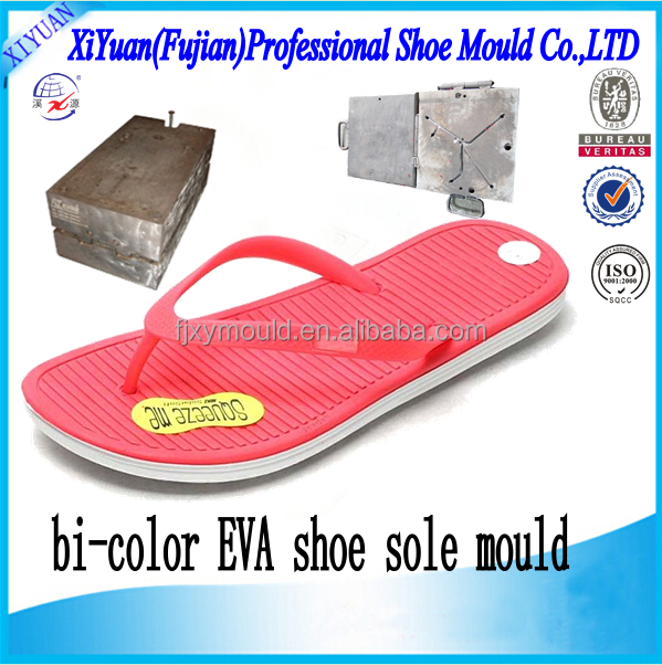 EVA shoe sole & PVC strap shoe mould, Lovely Eva+PVC Slipper moulds mold die, Unisex Double Color Eva Pvc shoe moulds