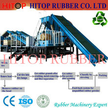 waste tyre rubber recycling production line