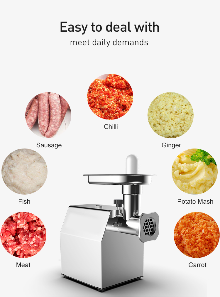 Commercial  multi functional mini electric  chopper hot sale best quality powerful national meat mincer