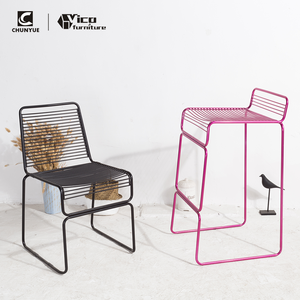 Customized color home metal iron wire chair