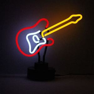 12v guitar neon light sign neon night light small desktop home custom neon table light sculpture