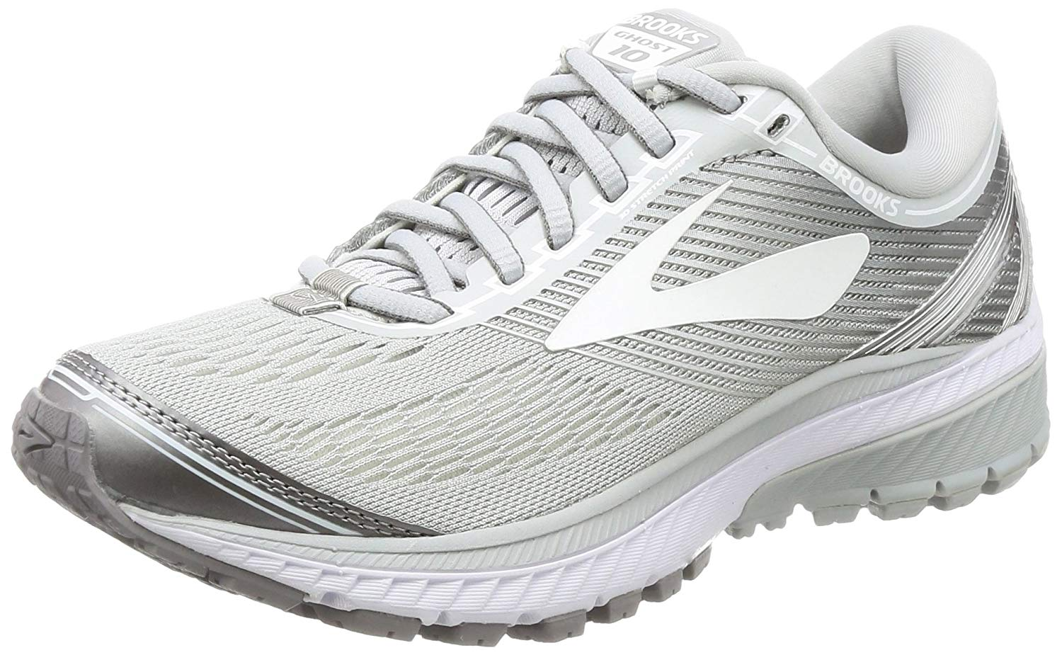 2e30446c14c Brooks Womens Ghost 10 Low Top Lace up Running Sneaker