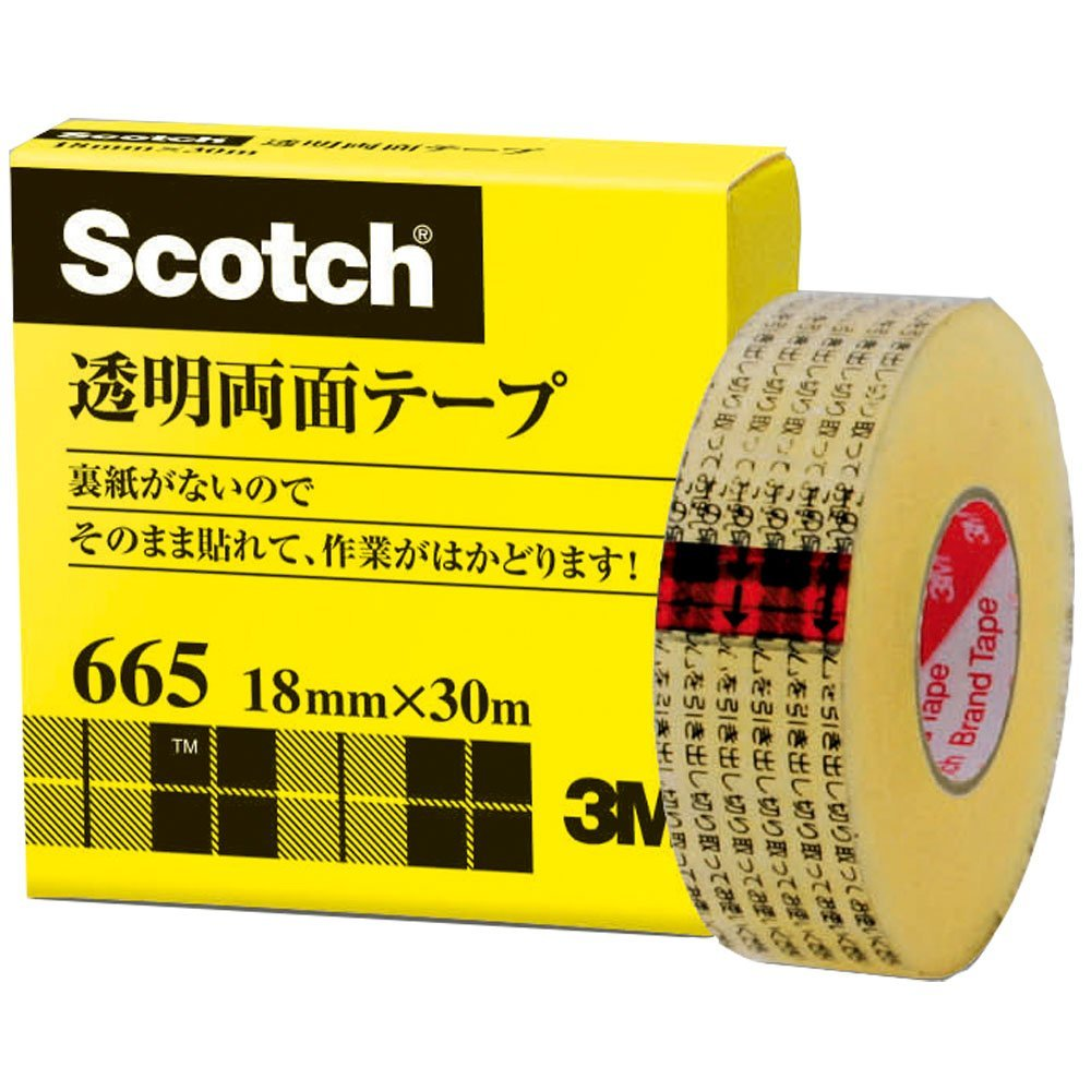 Paper Box 18mm x 30m 665-1-18 without Sumitomo (3M) Scotch (R) transparent double-sided tape liner (japan import)