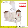China manufacturer NEW design portable khaki folding baby travel crib with steel frame