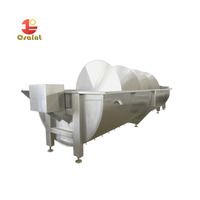 customized poultry chicken duck spiral precooling slaughtering machine for sale