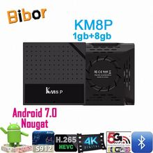 New Design Amlogic 912 Octa Core tv box KM8P Android 7.0 2gb RAM IPTV Receiver ko-di 17.0 TV Box KM8P