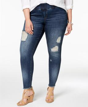e8493d70be9 New fashion sexy plus size distressed skinny ripped jeans pants for fat  women