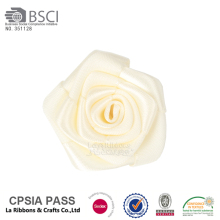 Adorable off color satin ribbon flowers small rose flower