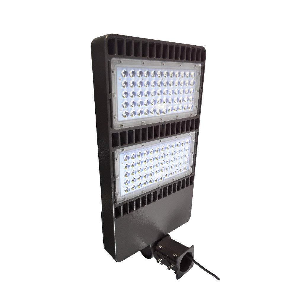 LED Parking Lot Light 200W, Shoebox Pole Light, 26000LM, 5000K CCT, AC100-277V, ETL DLC Qualified, IP65 Waterproof with Slip Fit/Pole/Trunnion Mount, for Area Lighting and Street Lighting