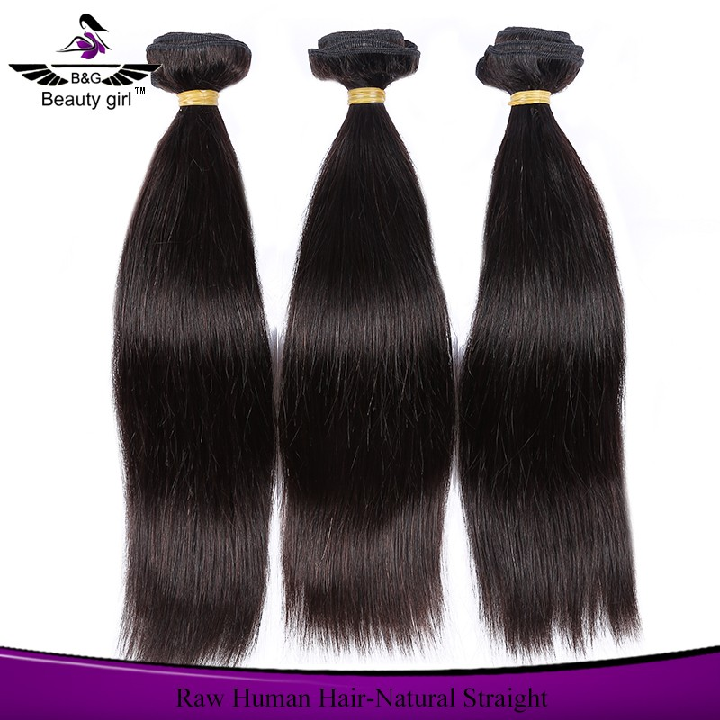 Natural Straight Human Hair Weave Styles Products For Black Women