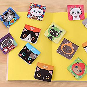 Katoot@ 3pcs/set Cute cartoon magnetic bookmarks for books Kawaii cat book marker Korean stationery school office supplies escolar zakka