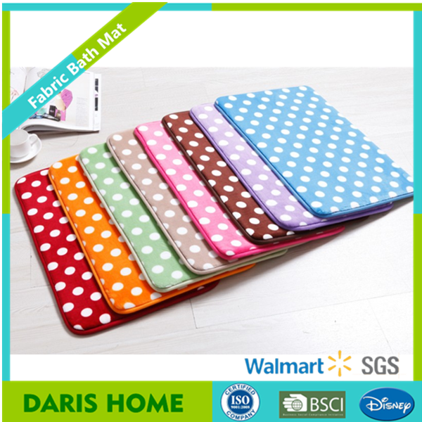 Polyester Printing Design Flannel Fleece Door Mat, Shaggy Fabric Carpet Rug For Bathroom