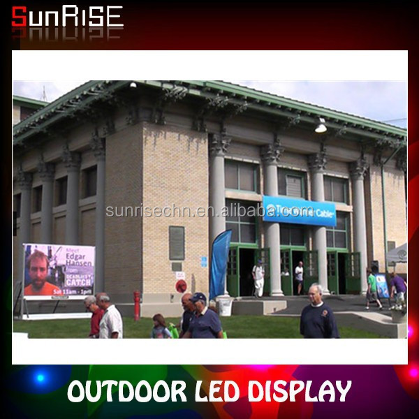 fashionable splendid appearance high - end full color small-scale outdoor advertising led display screen