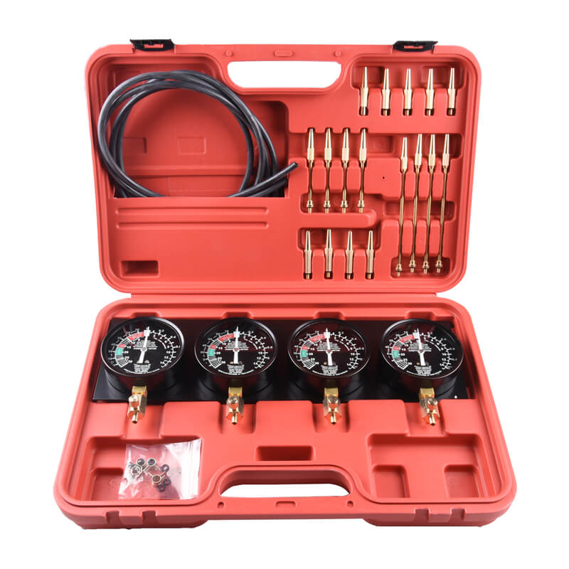 Fuel Pressure Carburetor Synchronize Gauge Car Diagnostic Test Tool Kit