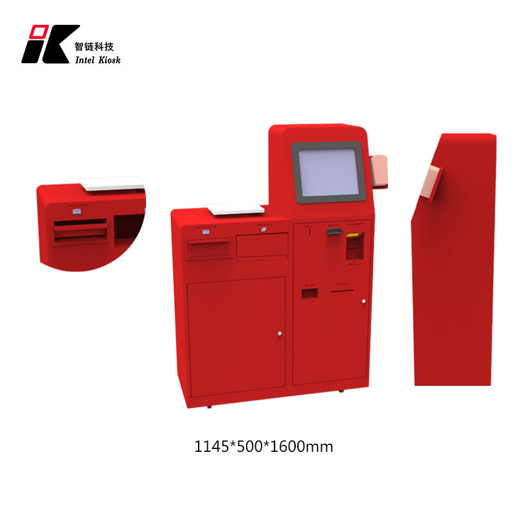 High quality self service postal parcel kiosk with coin and cash acceptor and card reader