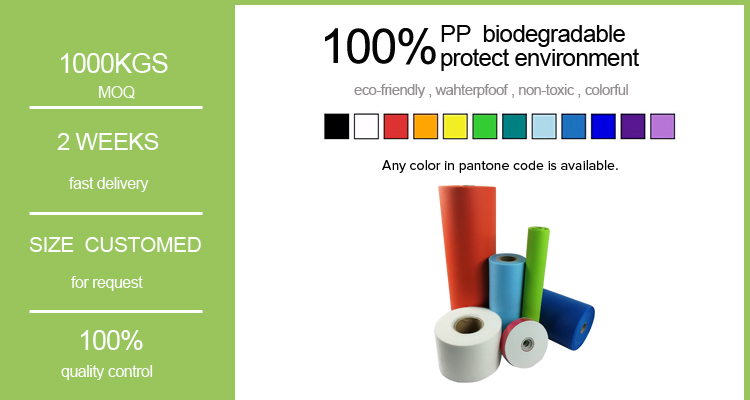 recycle polypropylene spunbond non woven fabric rolls high quality