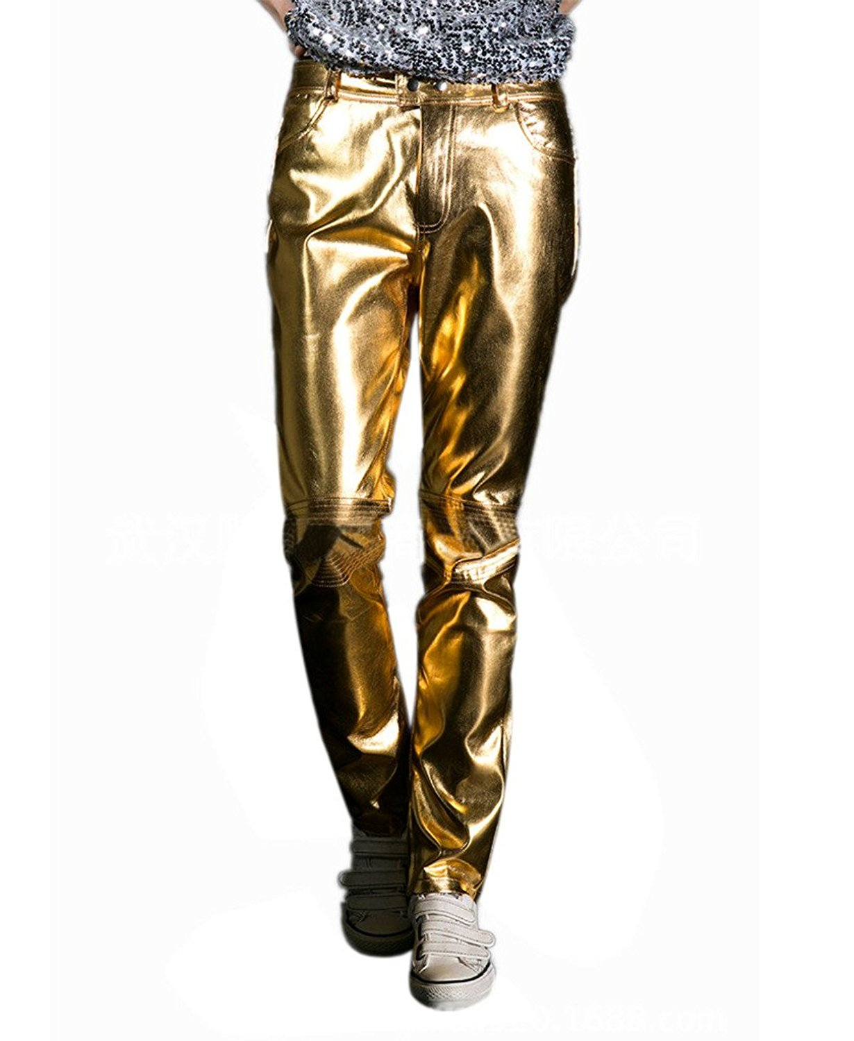 8fd4da5cc4ff1 Dinamit Jeans Girls Shiny Metallic Color Elastic Leggings. null. null. Get  Quotations · CIC Collection Men's Metallic Shiny Jeans