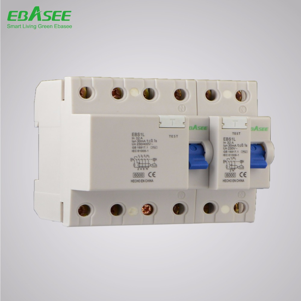 40a 4p 30ma Circuit Breaker Suppliers Id Residual Current Rccb Elcb China And Manufacturers At