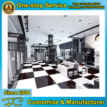 Branded men clothes shop decoration/display showcase for sale