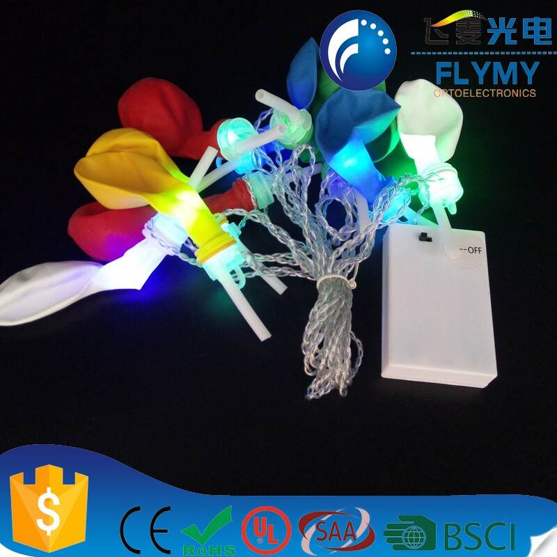 2018 new item-Mixed Color Light Up Balloon LED White Helium Float Wedding Party Decoration christmas&halloween decoration