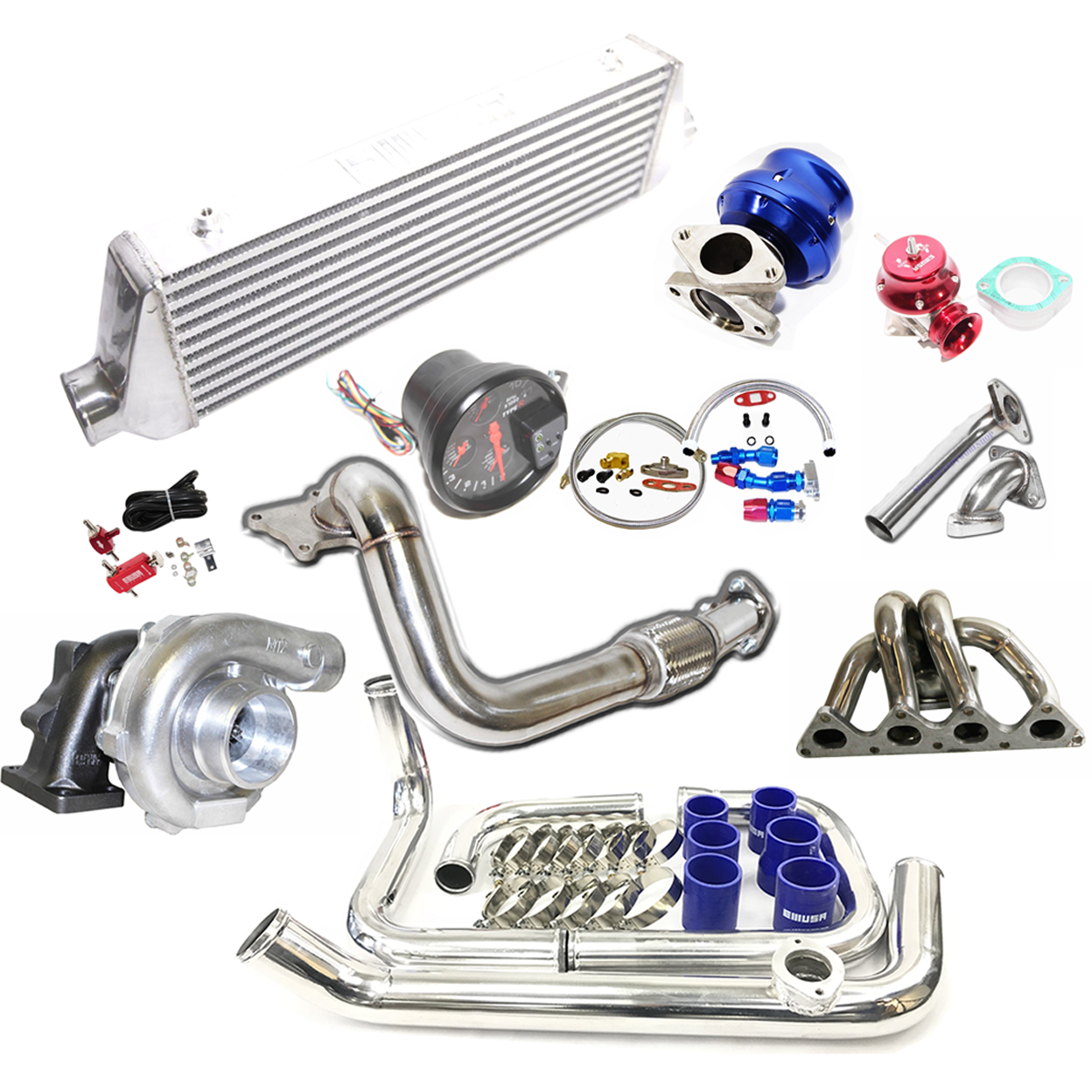 Turbo Kits De T3/t4 Turbo Para 1988-1995 Honda Civic B16