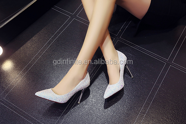 2017 new high heel shoes sequins high heel shoes, Female shoes,Nightclub shoes