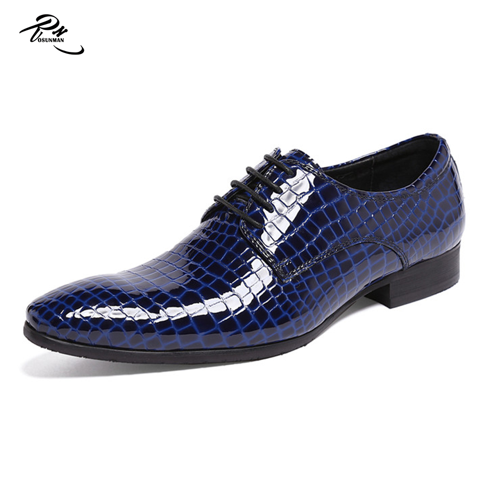 dress Shinny shoes embossed patent leather leather men genuine UxqS7w4a
