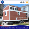 china pop hot sale sandwich panel movable prefab house container wheel