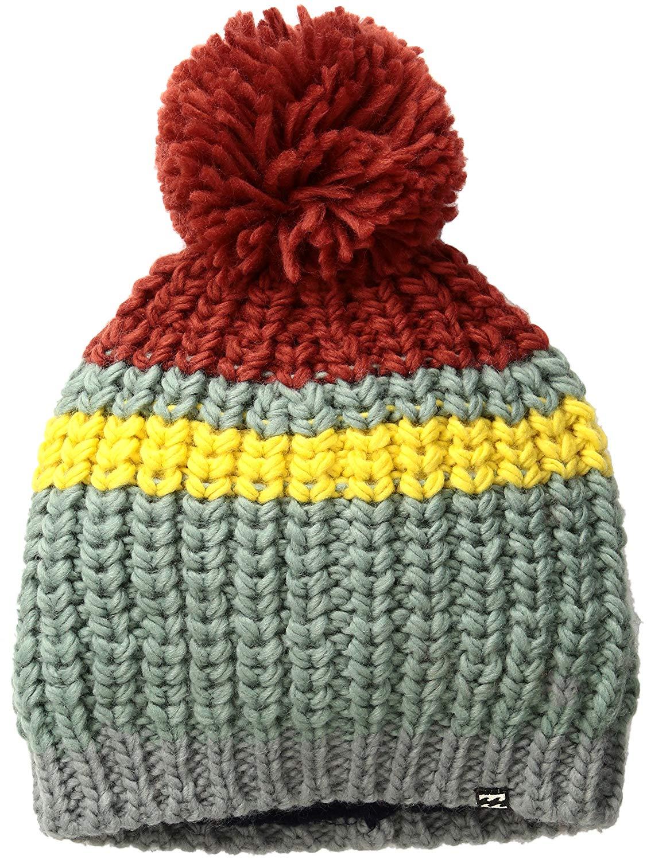 c2733dfc416 ... chunky yarn knit beanie with tassel and pom pom detail. Get Quotations  · Billabong Junior s Kim Beanie