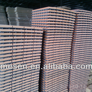 Man-made Wood Deck Tiles /WOOD PLASTIC COMPOSITE PLANK WITH PLASTIC BASE/wpc