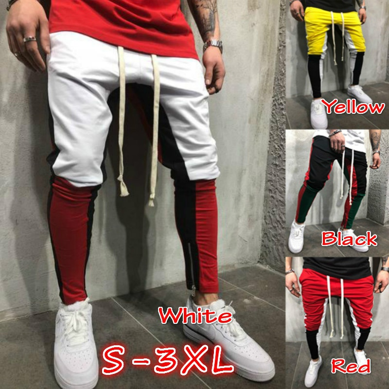 New Arrival Men Male 않죠 바지 Casual Pants 트레이닝 복 Jogger 캐주얼 탄성 피트니스 Workout Pants Plus Size